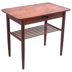 Side Table with Drawer, Danish Design