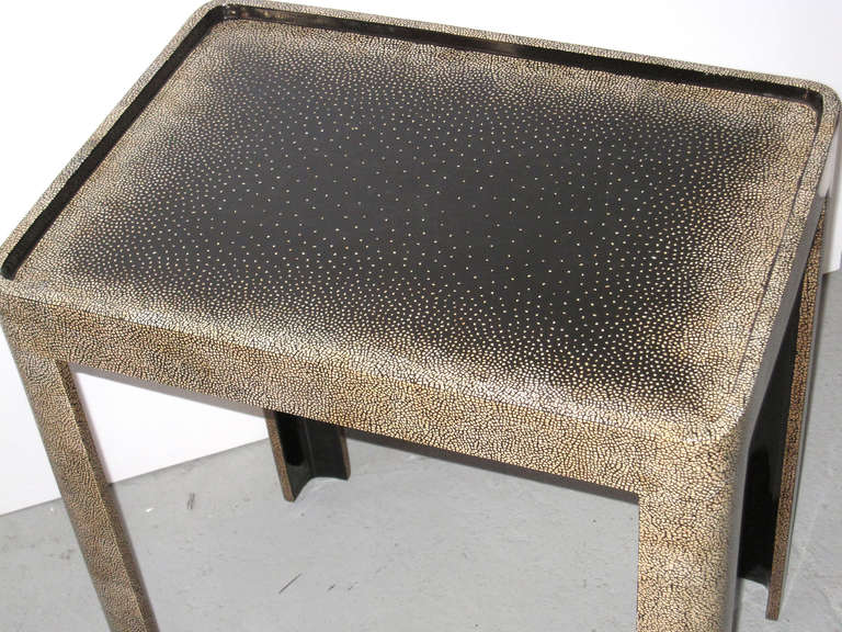 Contemporary Side Table with Extraordinary Eggshell Work For Sale