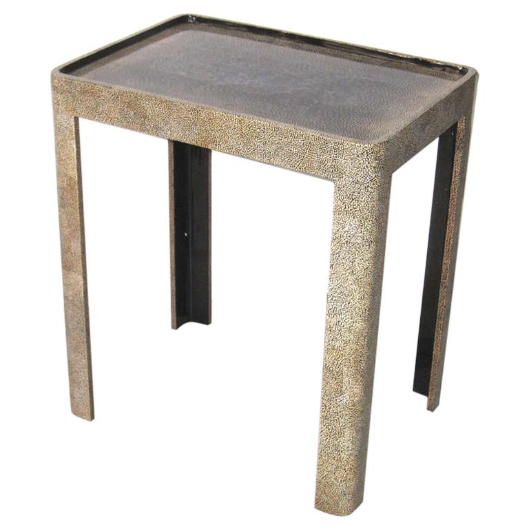 Side Table with Extraordinary Eggshell Work For Sale