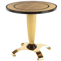 Side Table with Gold Leaf