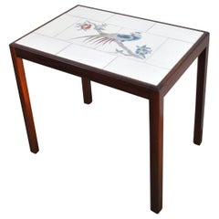 Side Table with Tiles by Designer and Cabinetmaker Jacob Kjær