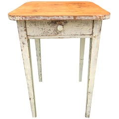 Side Table with White Paint