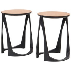 Side Tables in Bronze by Anasthasia Millot