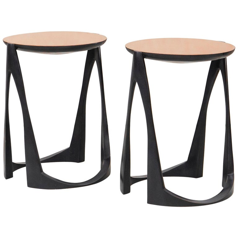 Side Tables in Bronze by Anasthasia Millot For Sale