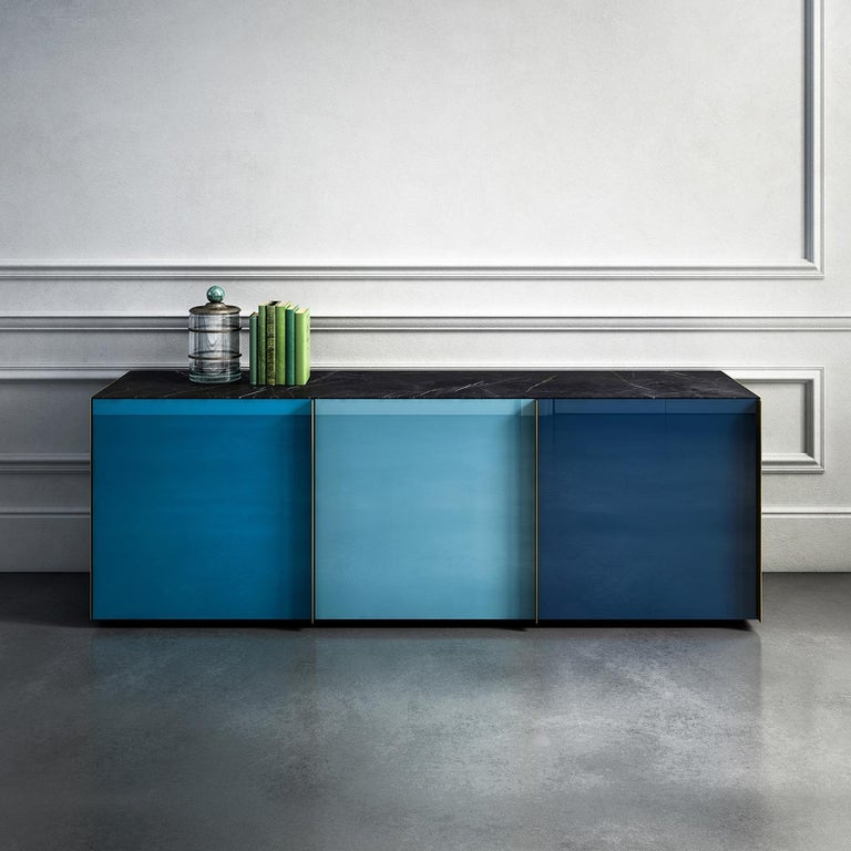 Sideboard 01 Blue In New Condition For Sale In Milan, IT