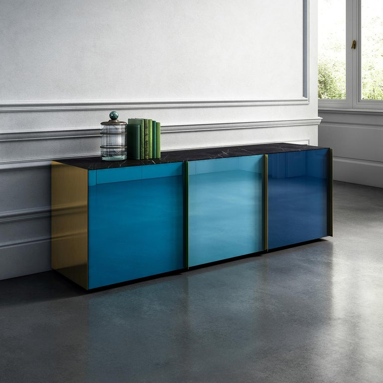 Contemporary Sideboard 01 Blue For Sale