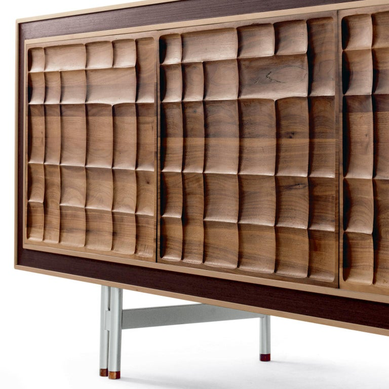 Oiled Sideboard A-113 by Dale, Italia For Sale