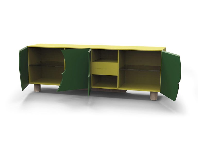 Sideboard Andy, in Ebony Wood Finish, Italy For Sale 4