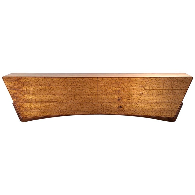 "Sideboard ""Asa'' by Marcos Amato in Solidwood, Brazilian Contemporary Design For Sale"