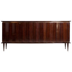 Sideboard Bu Melchiorre Bega in in Precious Wood and Brass, 1950s