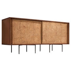 Sideboard by Campo & Graffi, Wood, Cork and Metal, Italy, 1960s