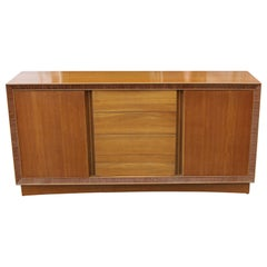 Sideboard / Cabinet with Ribbed Wood Border by Paul Frankl for Brown & Saltman