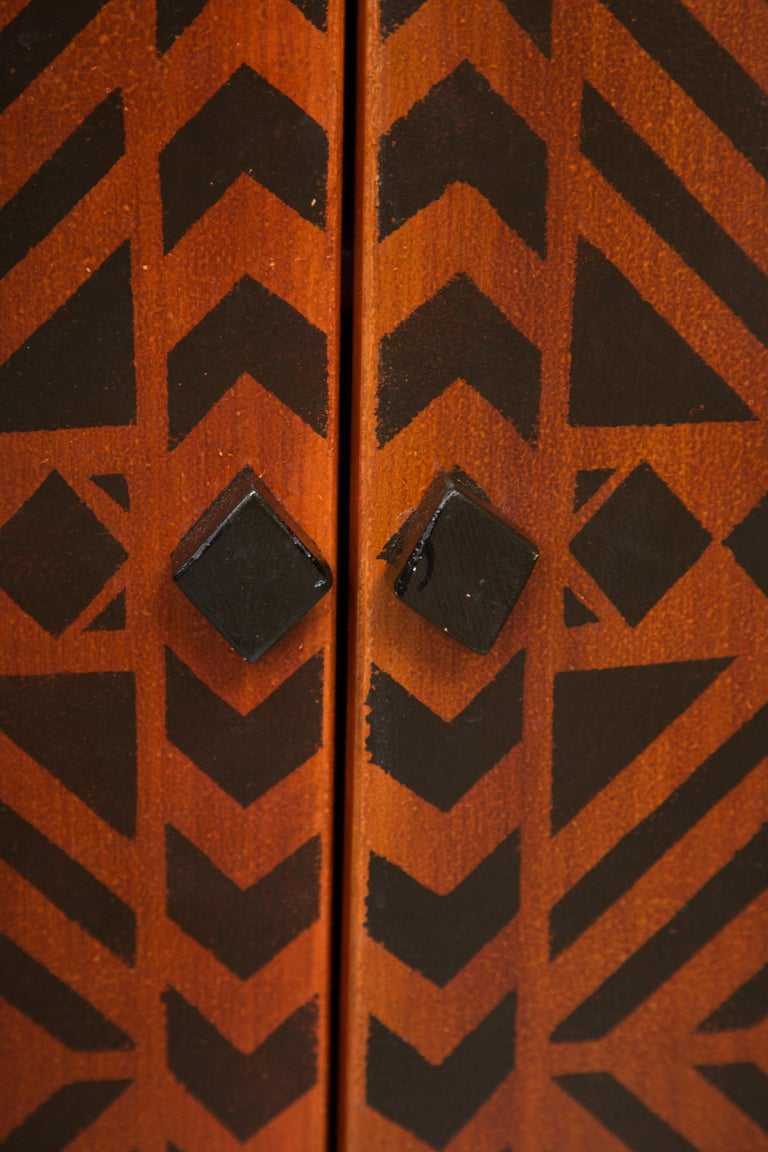 Other Sideboard Credenza Decorated in a Geometric Pattern For Sale