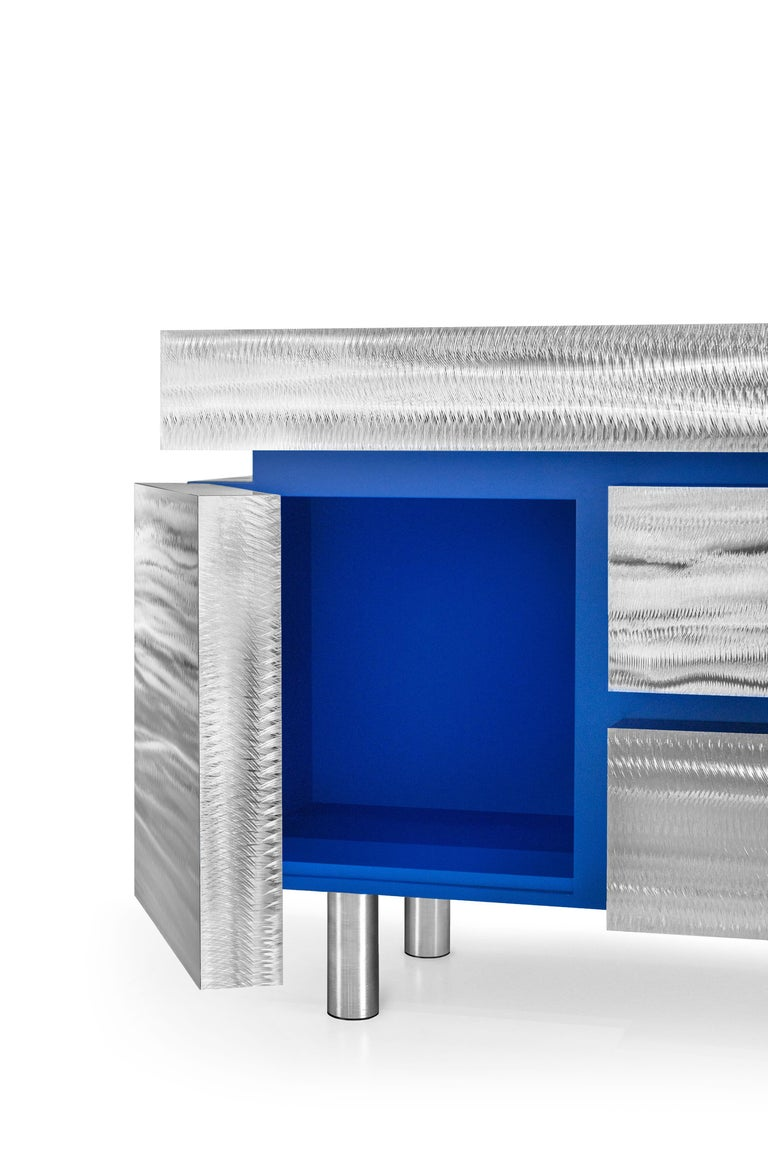 Modern Sideboard Gerrit CS1 Made of Stainless Steel by Noom For Sale