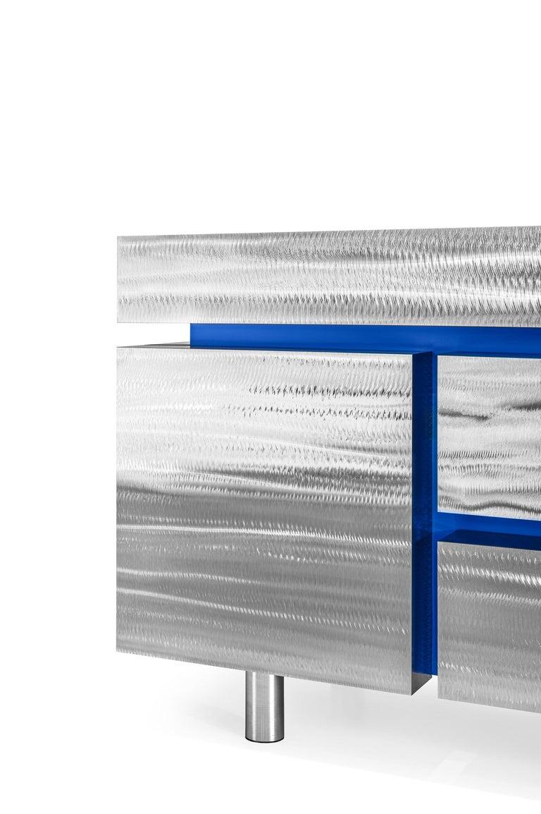 Ukrainian Sideboard Gerrit CS1 Made of Stainless Steel by Noom For Sale