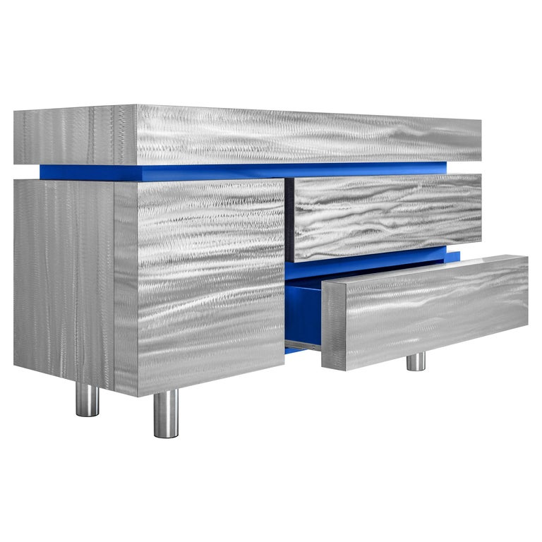Sideboard Gerrit CS1 Made of Stainless Steel by Noom For Sale