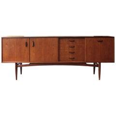"""""""Gold Label"""" G Plan Midcentury Modern Rectangular Teak British Sideboard, 1961"""