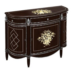 Sideboard in Ebony Wood And Mother of Pearl