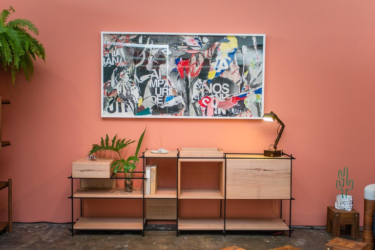 Sideboard in Hardwood and Steel, Brazilian Contemporary Design by O Formigueiro For Sale 5