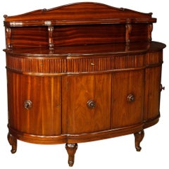 Sideboard in Mahogany Wood with Four Doors and Four Drawers from 20th Century