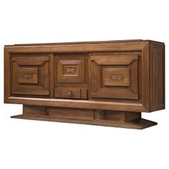 Sideboard in Oak, by Charles Dudouyt, France, 1930s