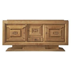 Sideboard in Oak by Charles Dudouyt, France, 1930s