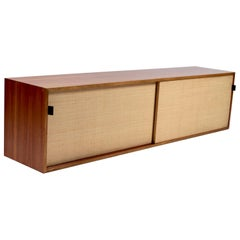 Sideboard in Teak & Seagrass by Florence Knoll, Designed 1947