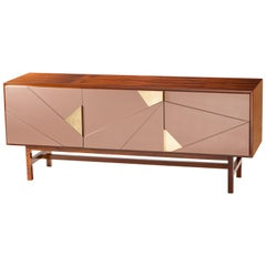 Sideboard Jazz in Iron Wood, Brass and Lacquer