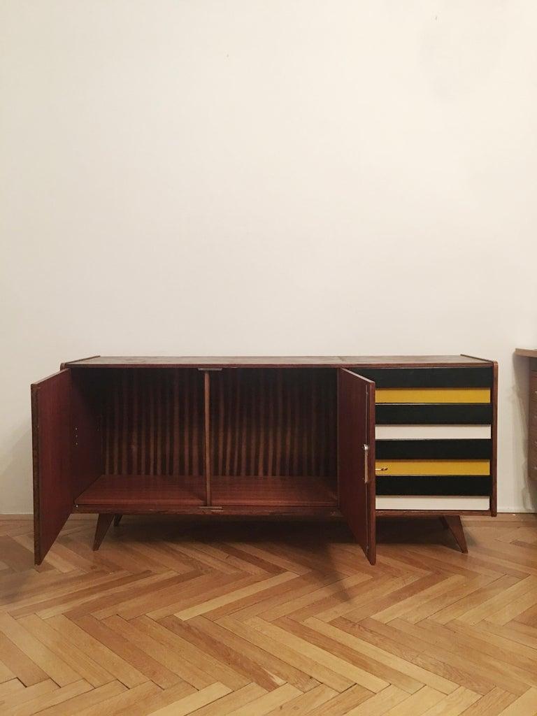 Sideboard Jiri Jiroutek for Interier Praha, U 460 Yellow and Gray For Sale 1