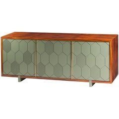 Sideboard in Wood and Brass Lewis