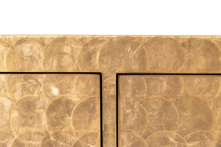 Mid-Century Modern Sideboard, Mother of Pearl Marquetry, circa 1970, USA For Sale