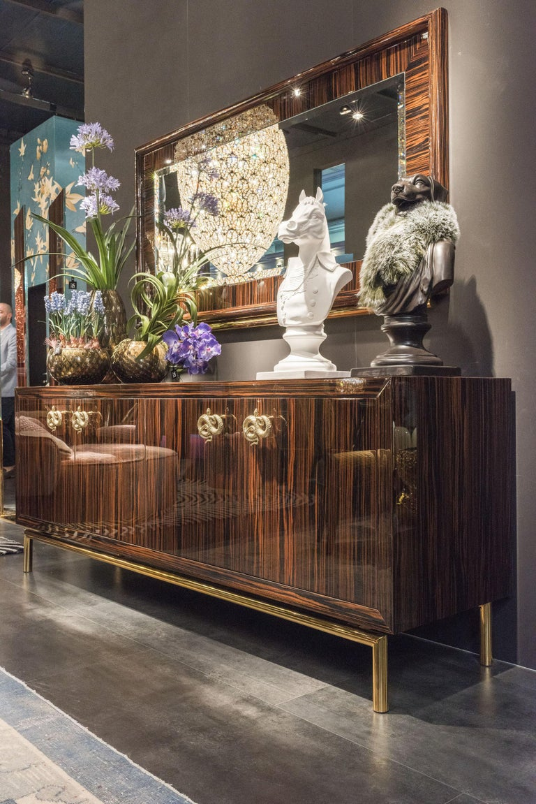 Sideboard Secret in Ebony and Galvanized Metal, Original Sin Collection, Italy In New Condition For Sale In Quinto di Treviso, Treviso