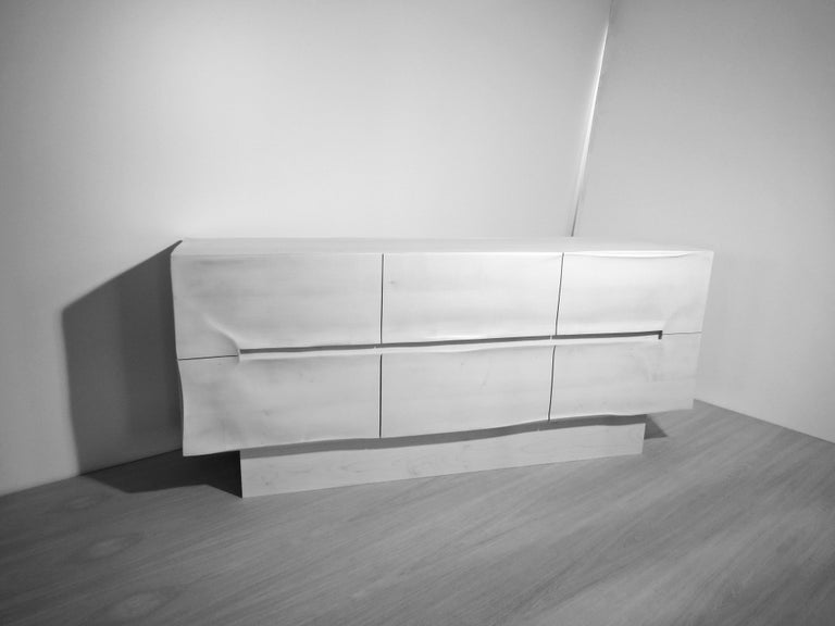 Sideboard Solid Wood in Organic Design, Handcrafted in Germany,  For Sale 5
