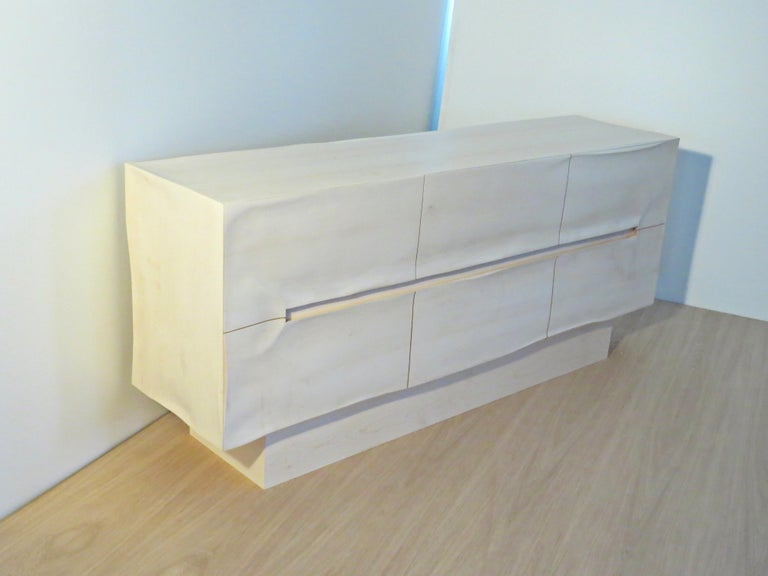 Organic Modern Sideboard Solid Wood in Organic Design, Handcrafted in Germany,  For Sale