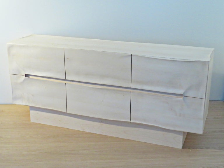 Hand-Crafted Sideboard Solid Wood in Organic Design, Handcrafted in Germany,  For Sale