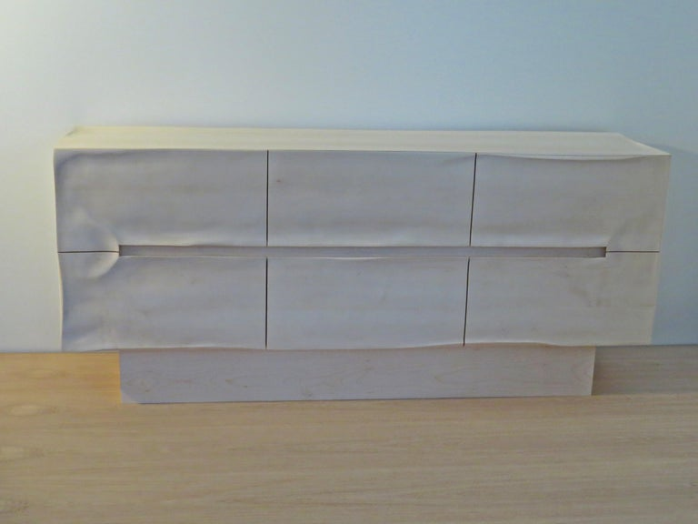 Contemporary Sideboard Solid Wood in Organic Design, Handcrafted in Germany,  For Sale
