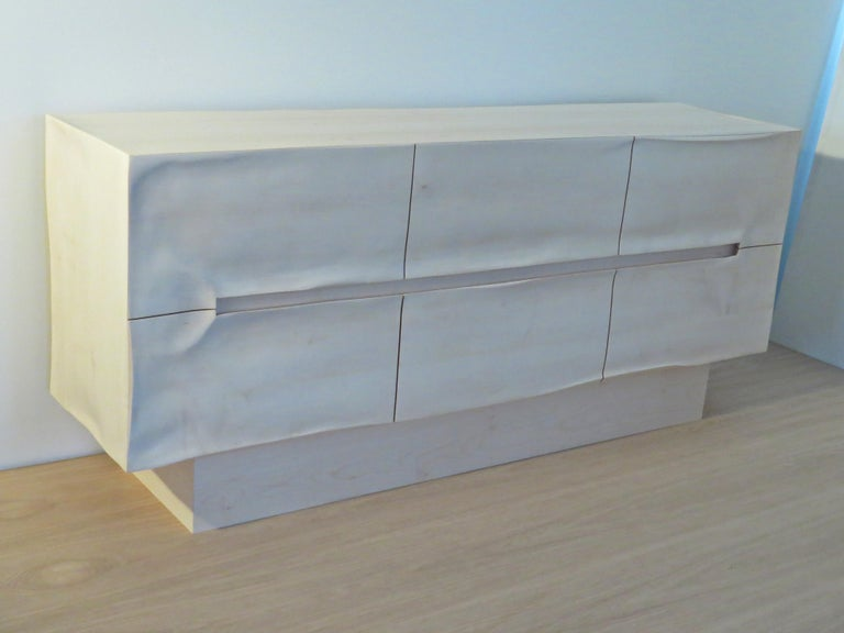 Maple Sideboard Solid Wood in Organic Design, Handcrafted in Germany,  For Sale
