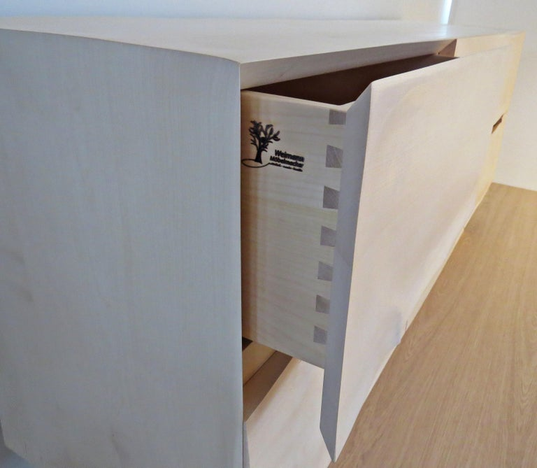 Sideboard Solid Wood in Organic Design, Handcrafted in Germany,  For Sale 2