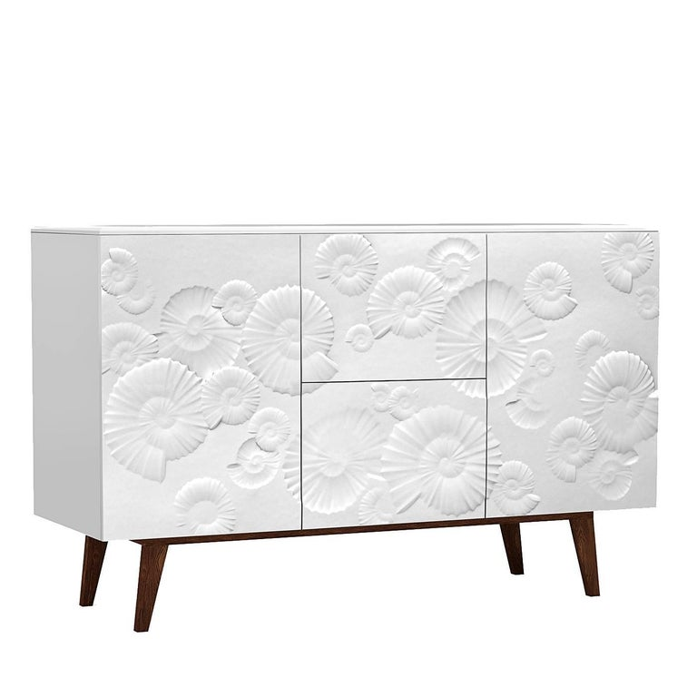 Sideboard with Ammonite Bas Relief