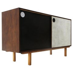 Sideboard with Colored Doors and Internal Chest of Drawers, 1960s