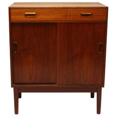 Sideboard with Sliding Doors in Teak of Danish Design from the 1960s