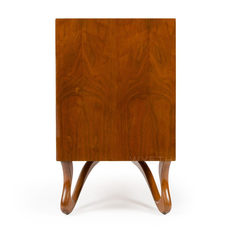 American Sideboard with Teardrop Handles and Ribbon Feet For Sale