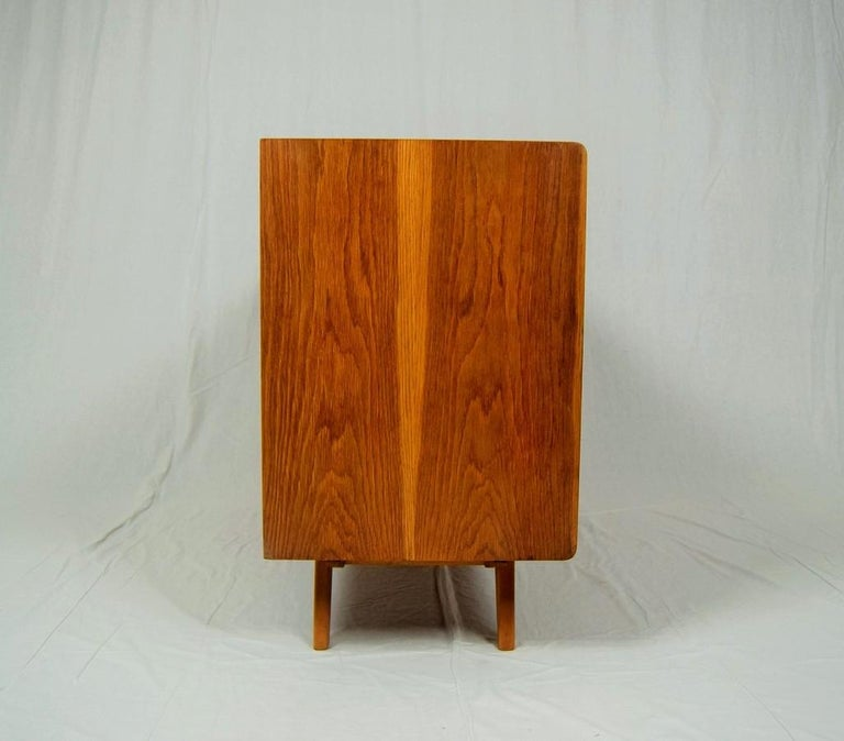 Stained Sideboard, Chest of Drawers by Jiří Jiroutek, Czechoslovakia, 1960s For Sale