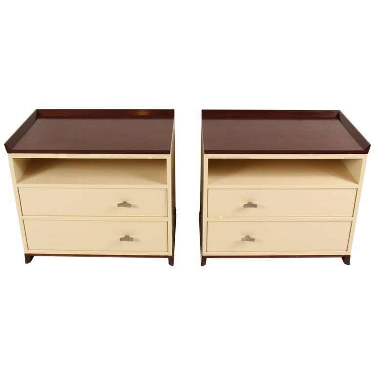 Sidelines Night Tables By Ted Boehner For Sale