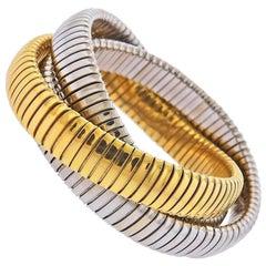 Sidney Garber Gold Rolling Bracelet