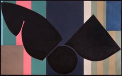 Somethin' Stupid (1988 Abstract Painting: Black, Blue, Green, Pink & Brown)
