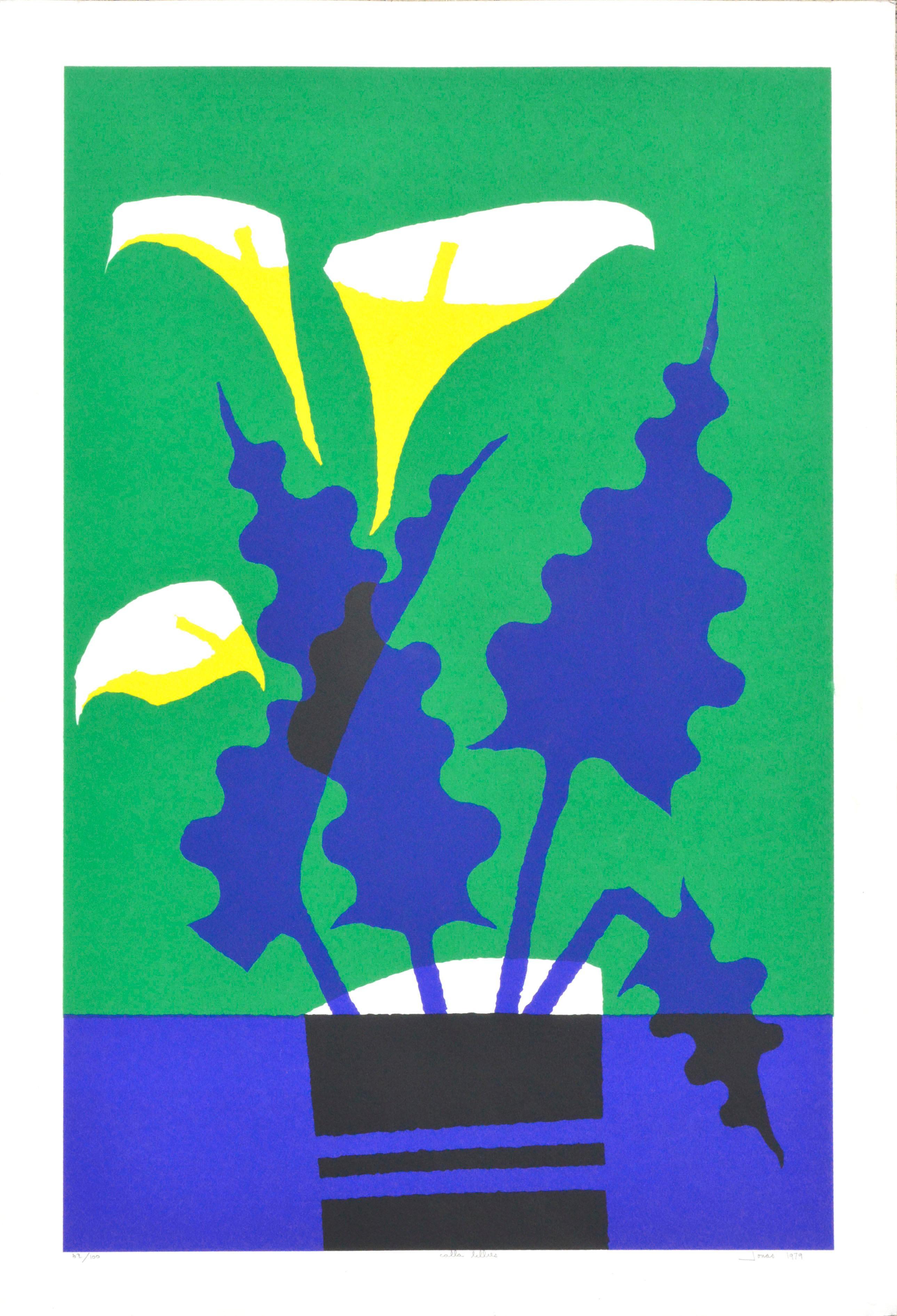 Calla Lilies - Botanical Abstract Still Life