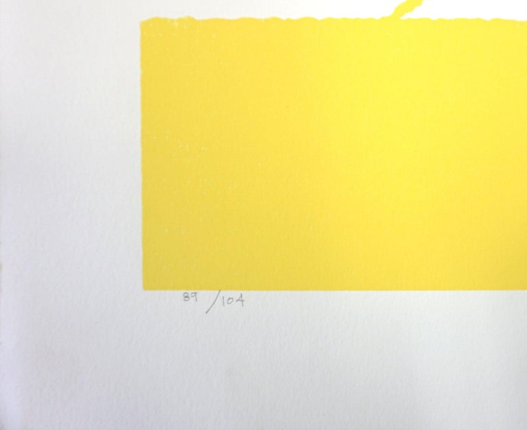 Dance of Life Abstracted Figurative - Yellow Figurative Print by Sidney Jonas Budnick