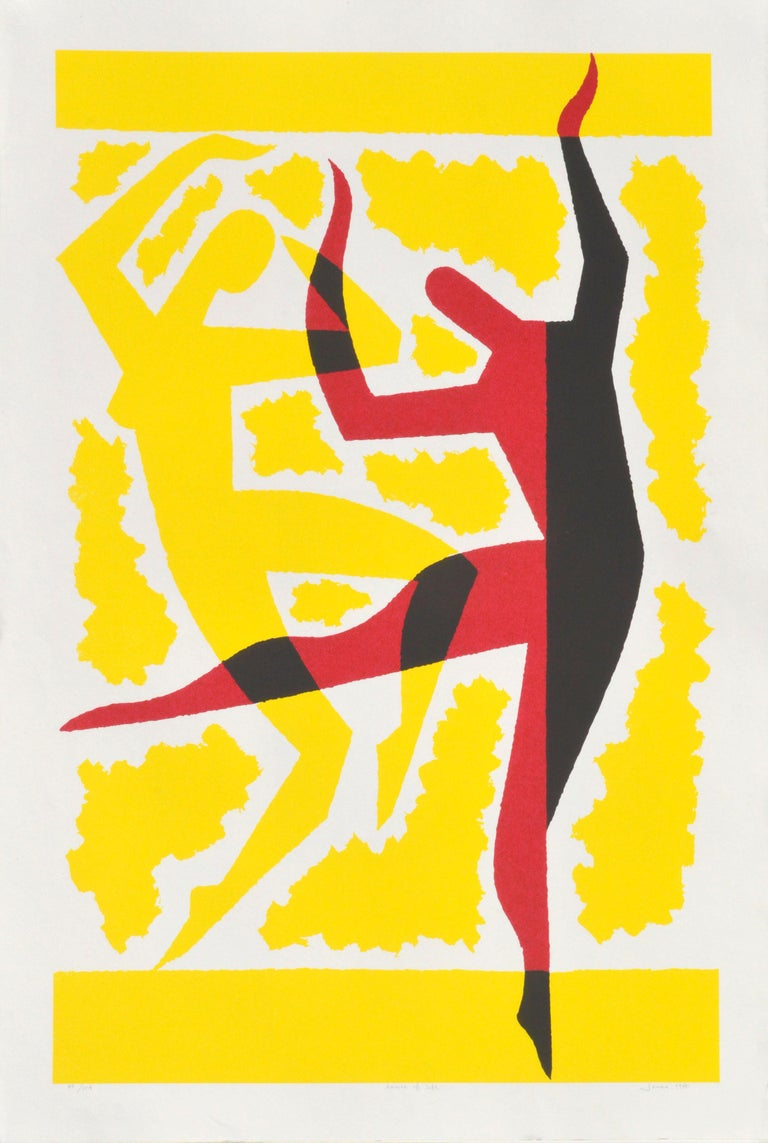 Sidney Jonas Budnick Figurative Print - Dance of Life Abstracted Figurative