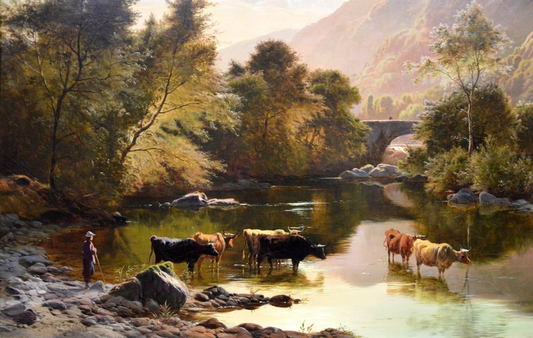 Betws-y-Coed, North Wales - 19th Century Oil Painting - Sidney Richard Percy For Sale 3